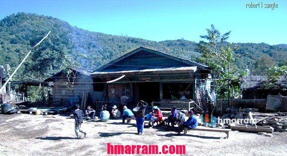 Just before Christmas in Damdiei village