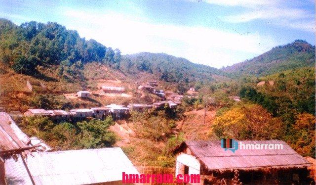 Damdiei village in Hmar Hills