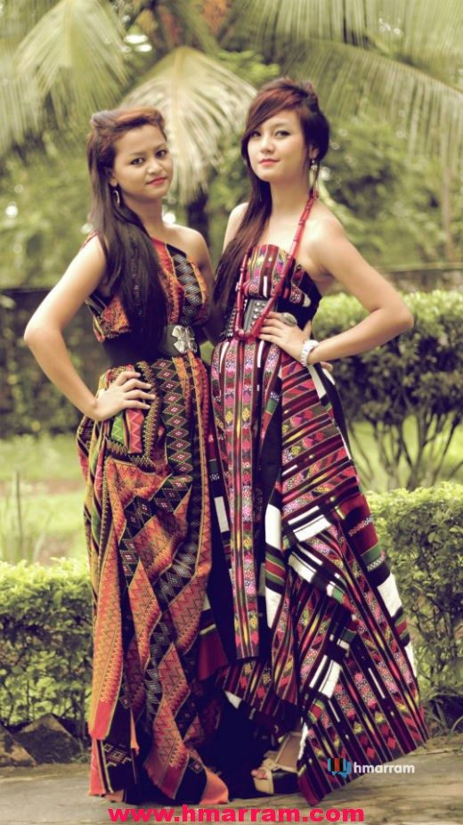 Hmar girls showcase traditional dresses