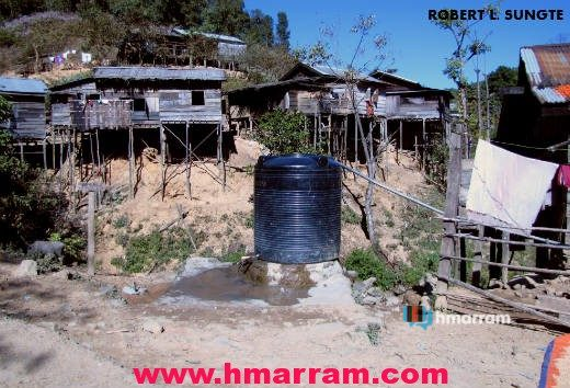 A water tank at Damdiei village in Hmar Hills, Manipur. Damdiei is blessed with abundant water supply throughout the year as there are at least three fresh water sources in and around the settlement.