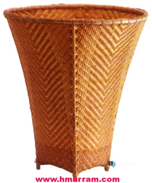 A hand-weave closed 'paikawng' or bamboo basket is used for carrying grain and many others.