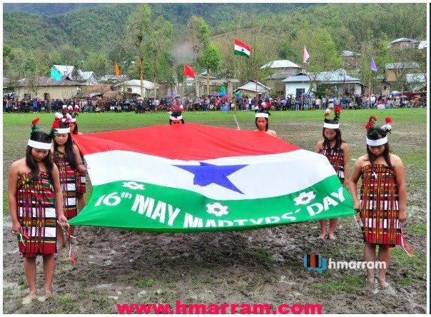 Hmar Martyrs' Day, Saikawt village, Manipur 2014