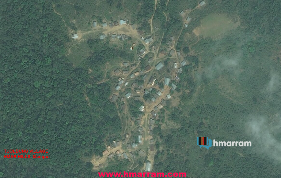 Ariel view of Tuolbung Village in Hmar Hills, Manipur.