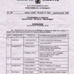Manipur government notification on creation of Pherzawl District
