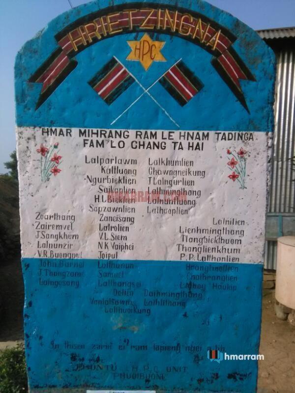 Hmar Martyrs' Memorial Stone, Phuoibuong, Mizoram